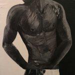 Homme-musclé-noir-et-blanc