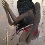 femme de dos peinture huile