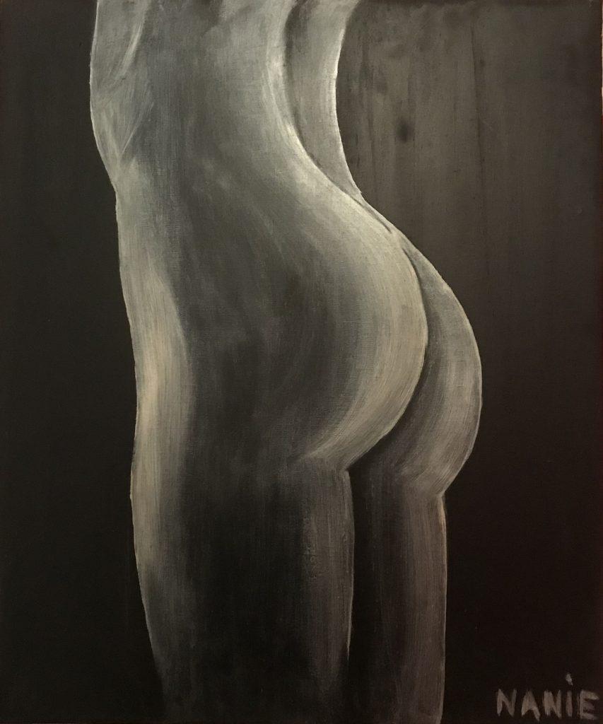 fesses de femme tableau à l'huile