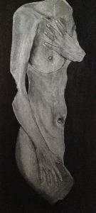 buste peint moulage