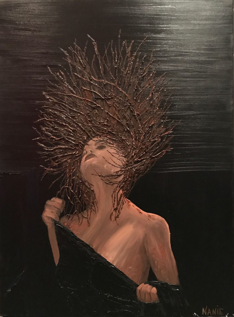 femme smart peinture à l'huile