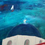 dôme bleu de Santorin