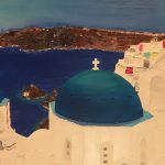 dome-santorin-peinture-huile